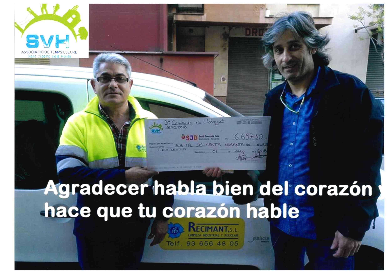 Recimant colabora económicamente en la Caminata Riu Llobregat