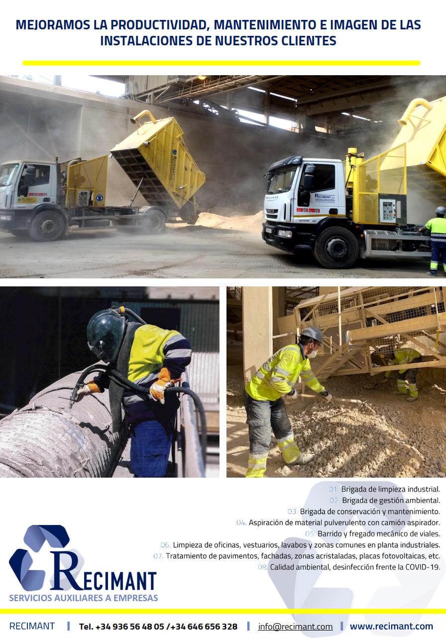 Recimant da visibilidad de sus servicios a nivel nacional en la Revista Técnica «Cemento Hormigón»